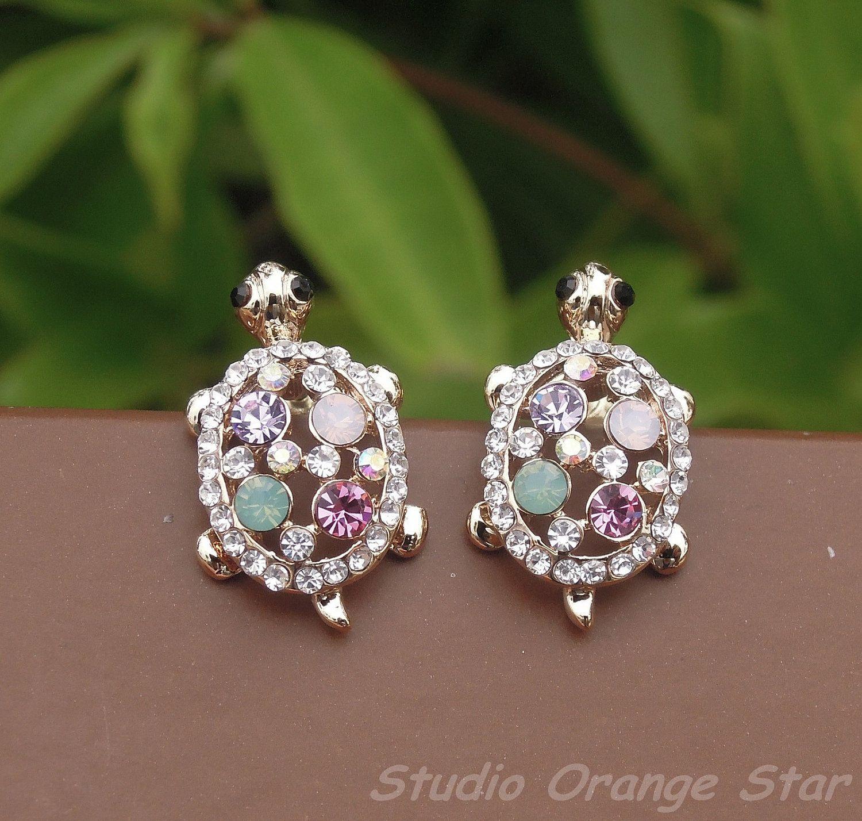 turtle stud earrings | Smykker | Pinterest | Smykker