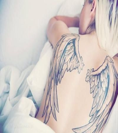рисовая тату крылья ангела фото анастасии ковалевой фазу