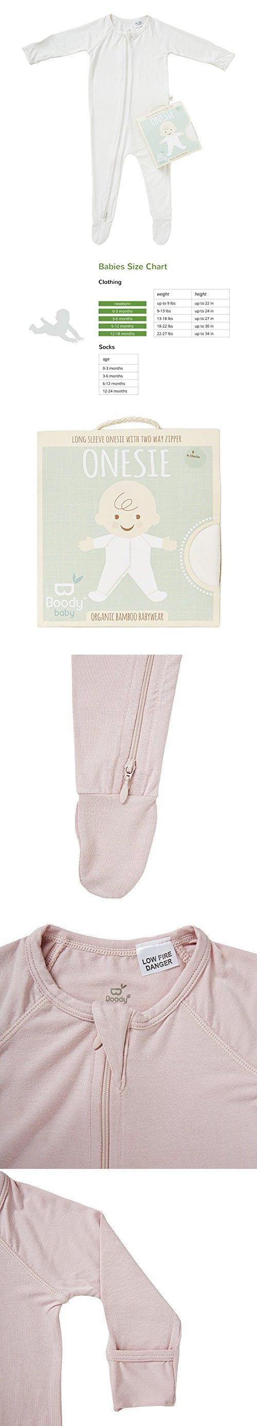 Boody Body Baby EcoWear Long Sleeve Onesie - Soft Blanket Sleeper with Built  In Mittens made from Natural Organic Bamboo - Soft Breathable Eco Fashion  for ... bd23d6eca