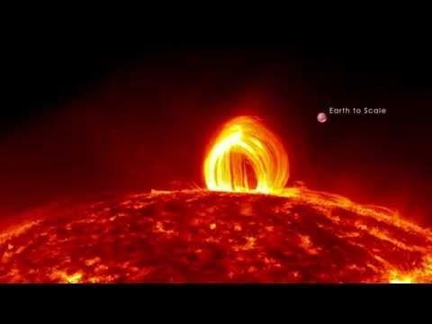 NASA засняло шокирующее видео на Солнце!