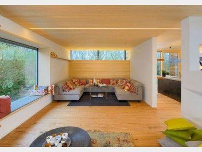 Baufritz Alpenchic gemütliches wohnzimmer mit großer im designhaus alpenchic