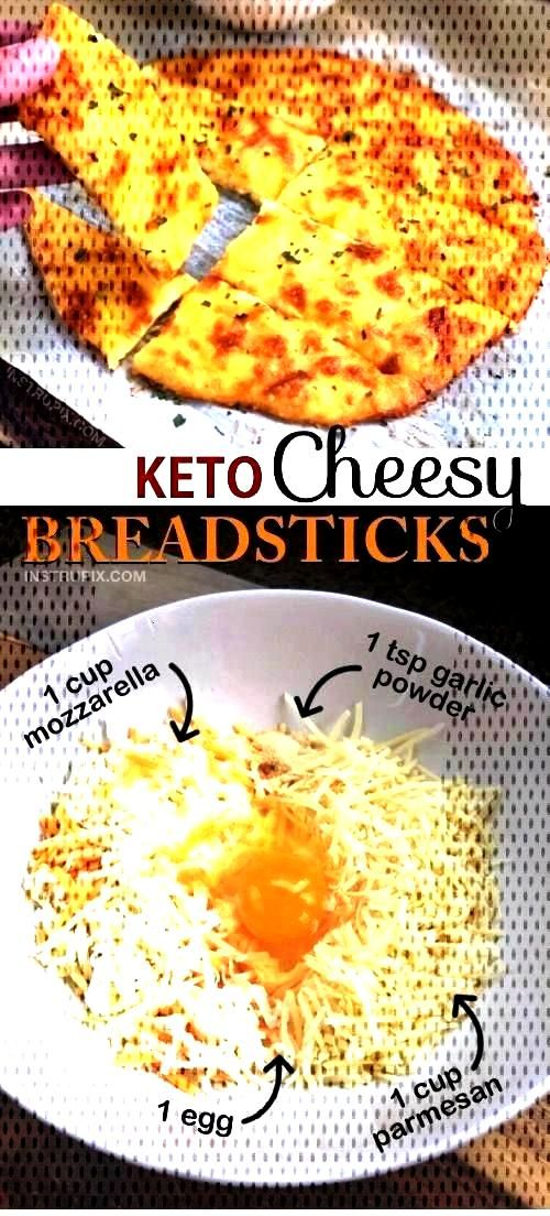 Keto Cheesy Garlic Breadsticks I halved the Ketogenic Recipes as shown on this pin, and it made fo