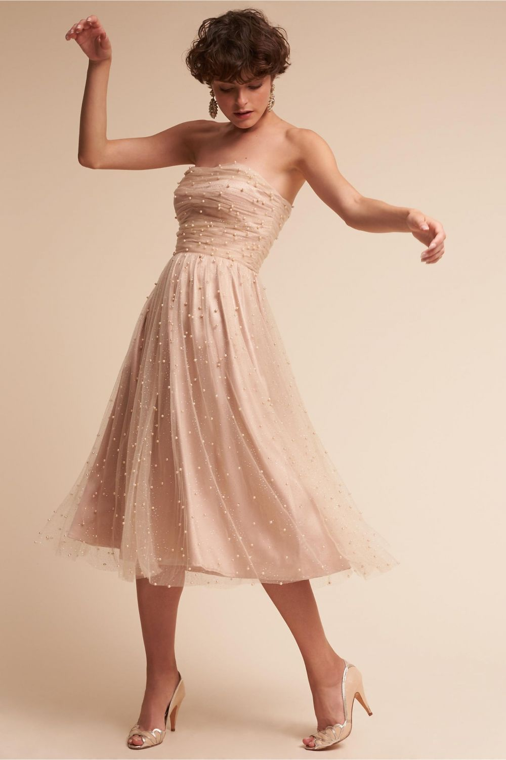 Gorgeous dress for wedding party  Gorgeous Spring Inspired Bridesmaid Gowns  Polka Dot Bride  Dress