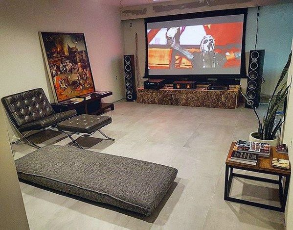 60 basement man cave design ideas for men manly home on incredible man cave basement decorating ideas id=98404
