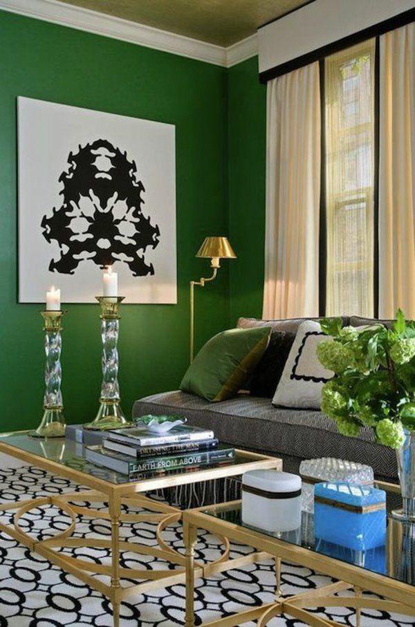 wandfarbe in grün farbideen wandgestaltung wohnzimmer | Schlafzimmer ...