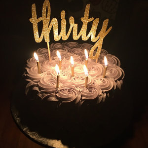 Thirty Cake Topper Glitter Thirtieth Birthday Party