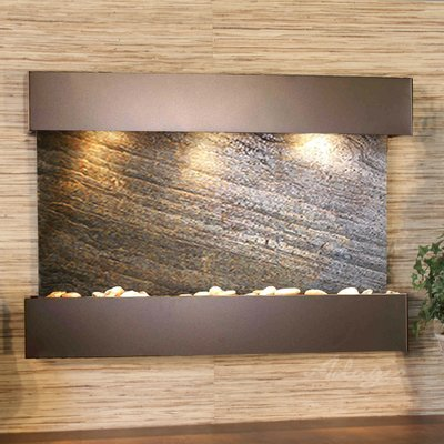 Adagio Fountains Reflection Creek Natural Stone Metal Wall