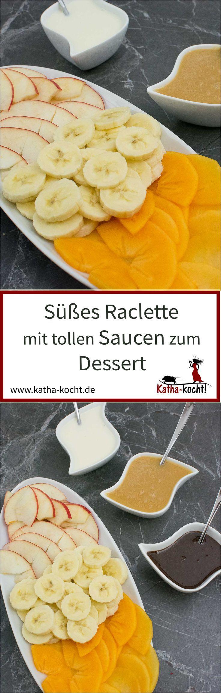 Süßes Raclette zum Dessert #fondue