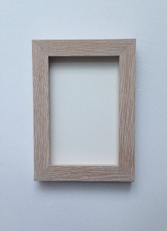 Limed Oak Flat Wooden Box Frame Any By