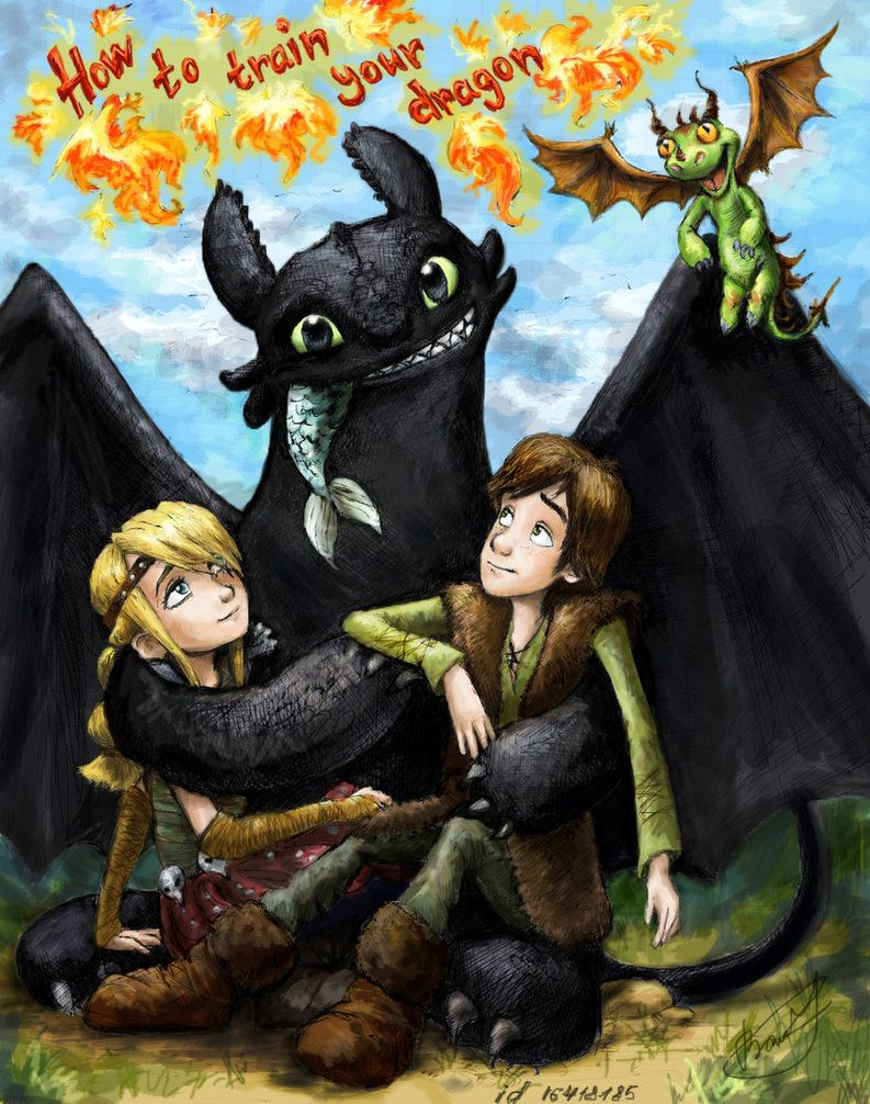 Hiccup Astrid Fan Art Astrid Toothless And Hiccup How Train Your Dragon How To Train Your Dragon Httyd Dragons