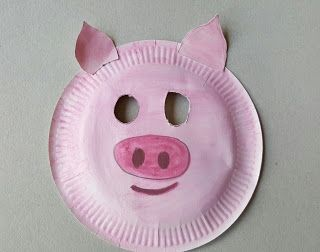 Pig mask from paper plate & Pig mask from paper plate | Costumes | Pinterest | Pig mask