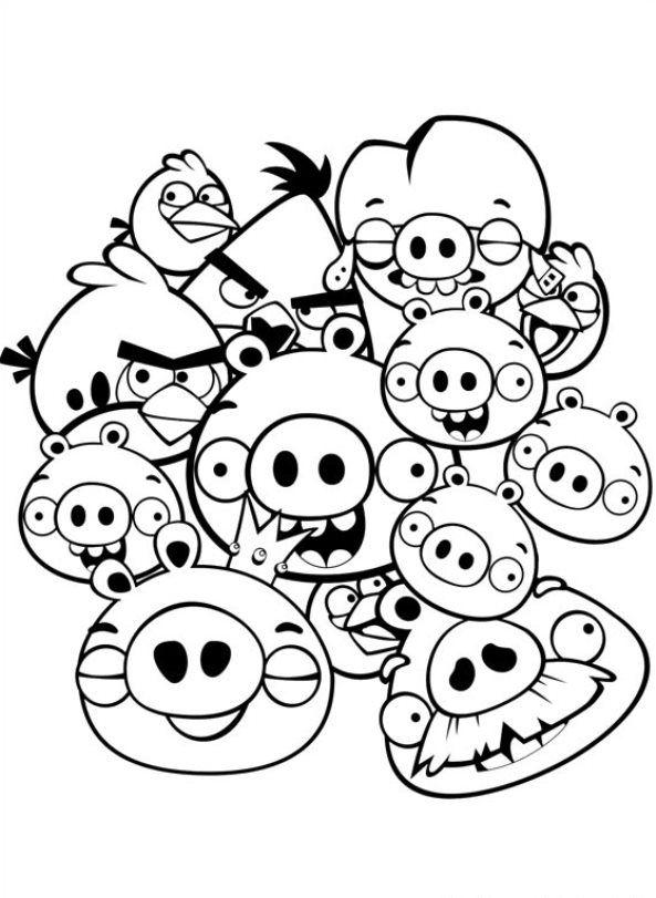 42 coloring pages of Angry Birds on Kids-n-Fun.co.uk. Op Kids-n-Fun ...