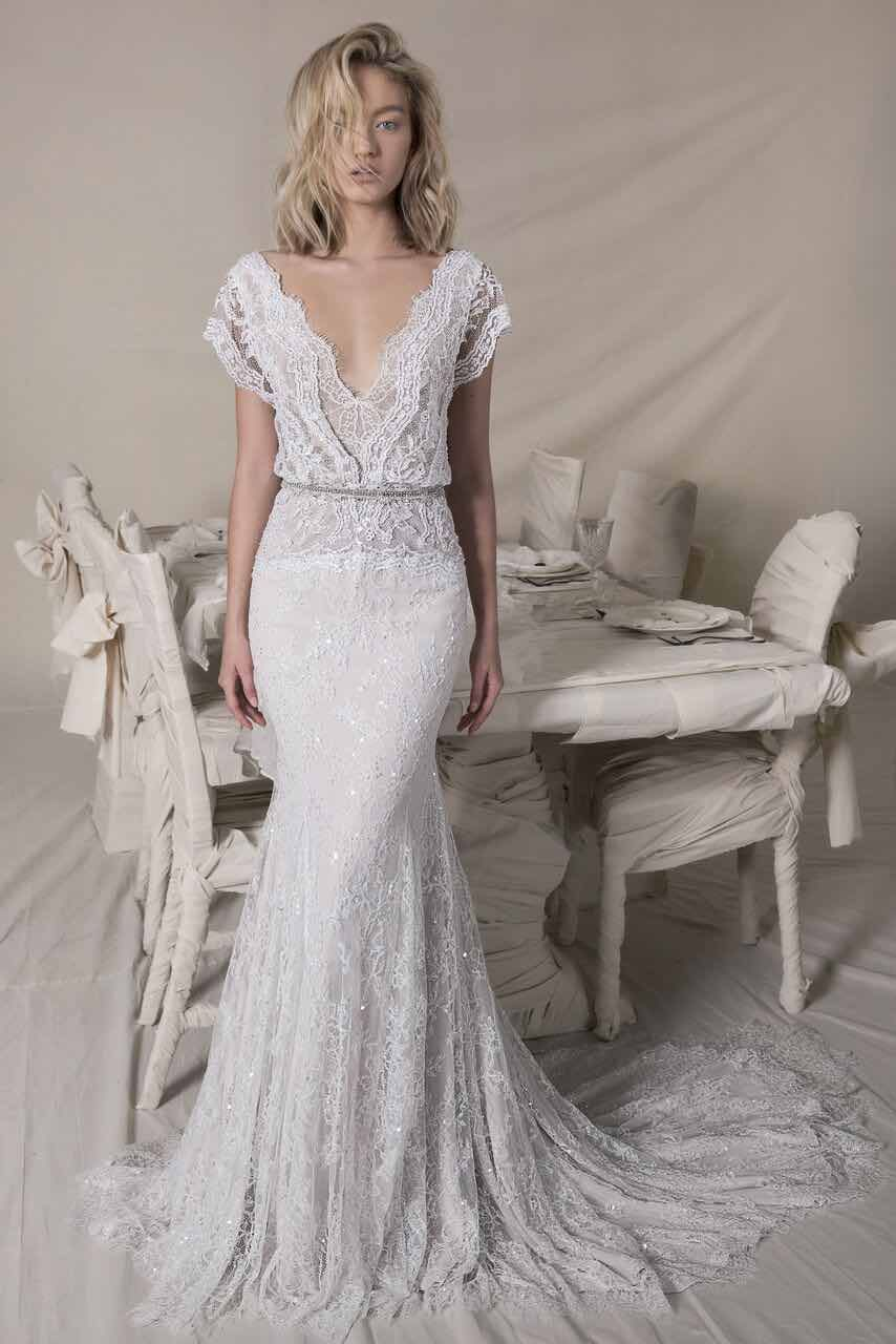 This collection of lihi hod wedding dresses is stunningly romantic