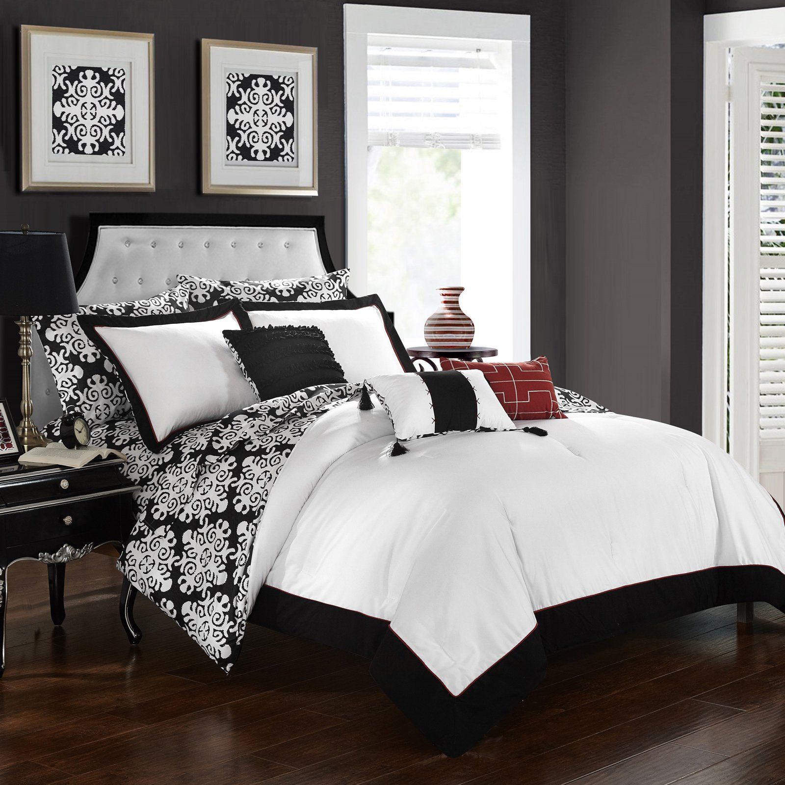 Chic Home Lalita Hotel Collection Reversible Bed In A Bag Comforter