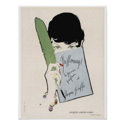 Paris Vintage Perfume Posters