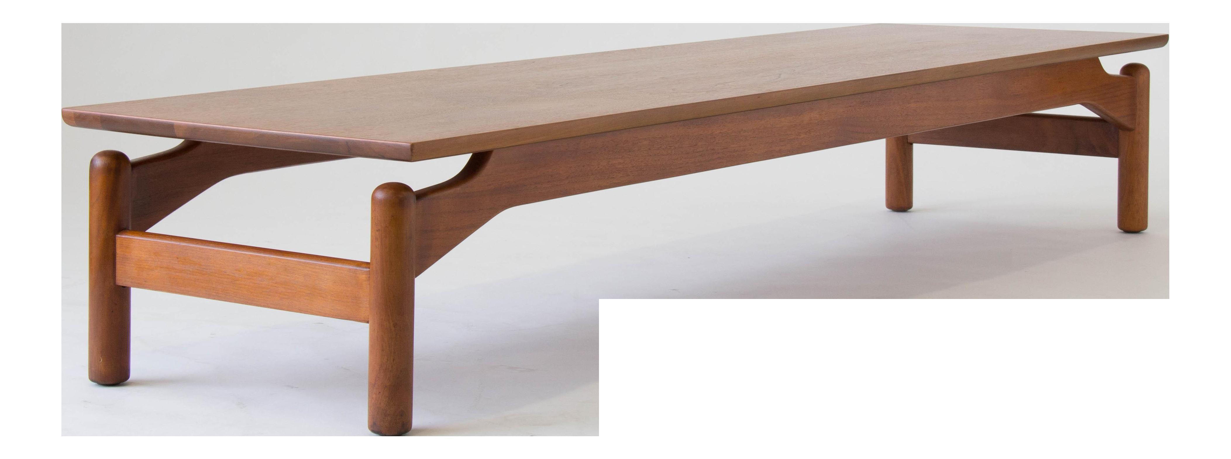 Walnut coffee table by greta grossman for glenn of california on walnut coffee table by greta grossman for glenn of california on decaso geotapseo Gallery