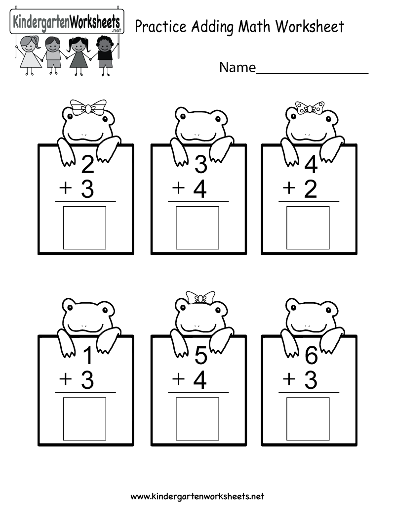 This is a cute addition worksheet for kindergarteners. You can ...