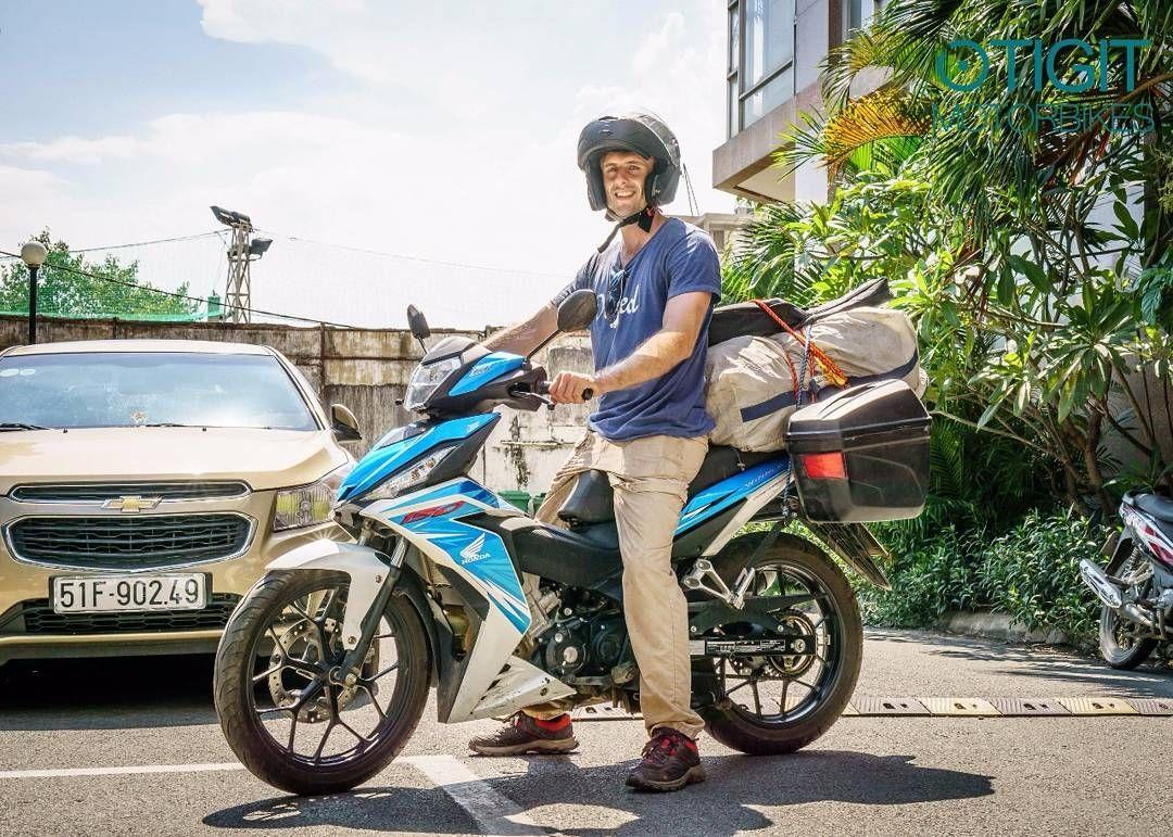 Tobias From Belgium Off To Hanoi On Tigit Honda Winner 150