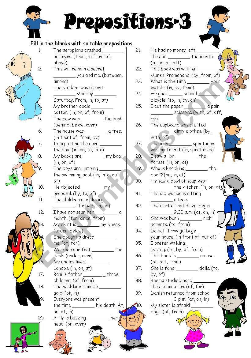Another worksheet for your students to practise