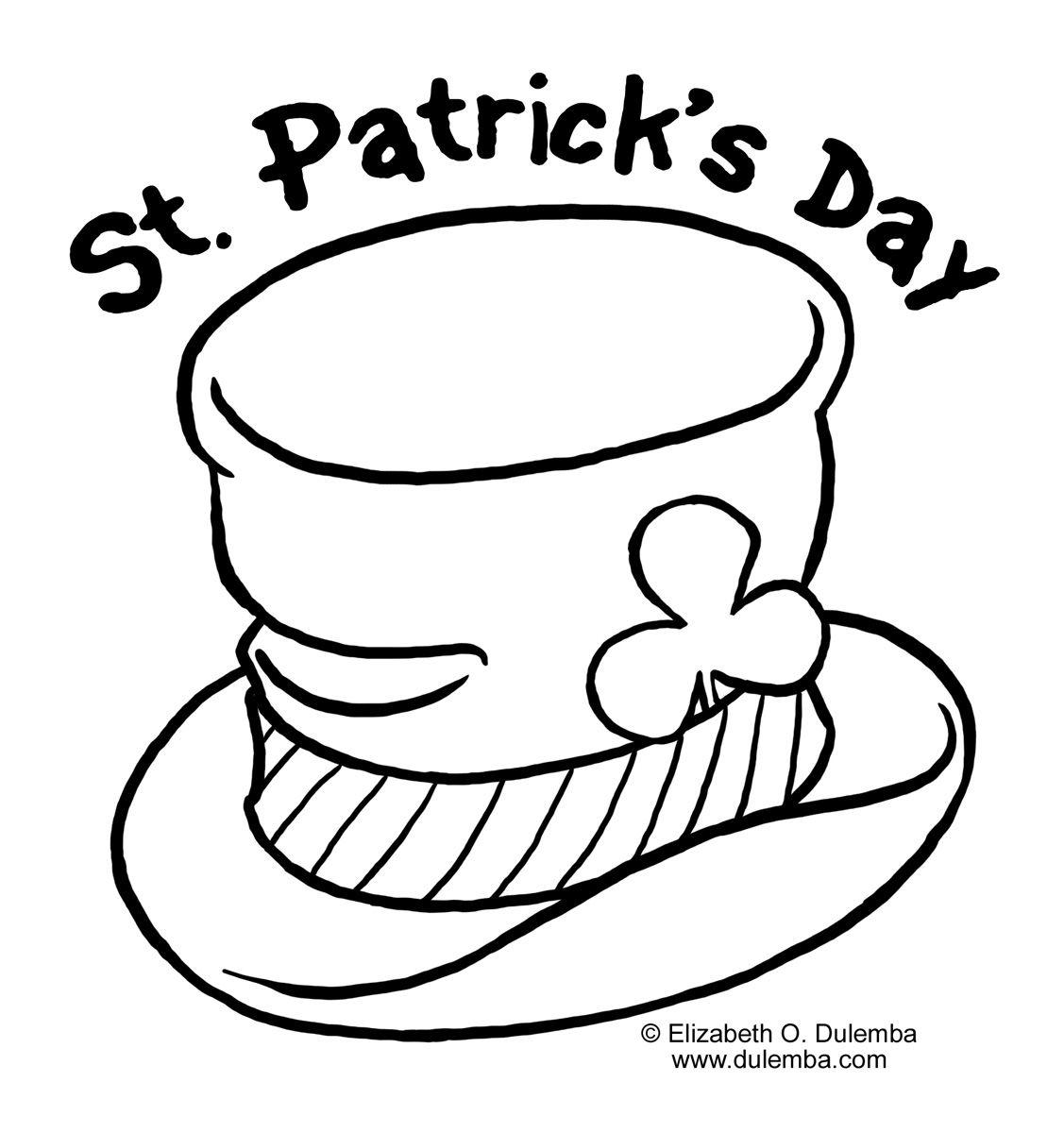 St Patricks Day Coloring Page Crafts Pinterest Saints