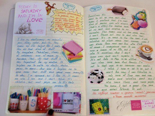 Как из тетради сделать дневник для девочек своими руками 989