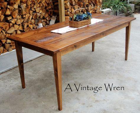 Custom Made Farm Table Shaker Style In New Hamsphire Furniture A Vintage Wren