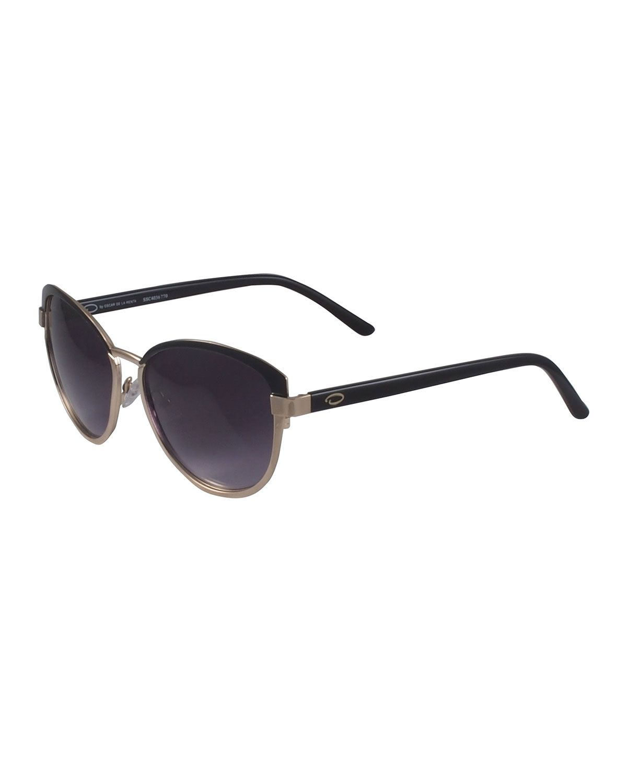 1bdd3eebdb O by Oscar de la Renta Two-Tone Modified Cat-Eye Sunglasses