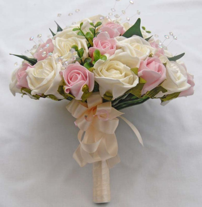 wedding bouquets with gardenias and light pink roses | bridal ...