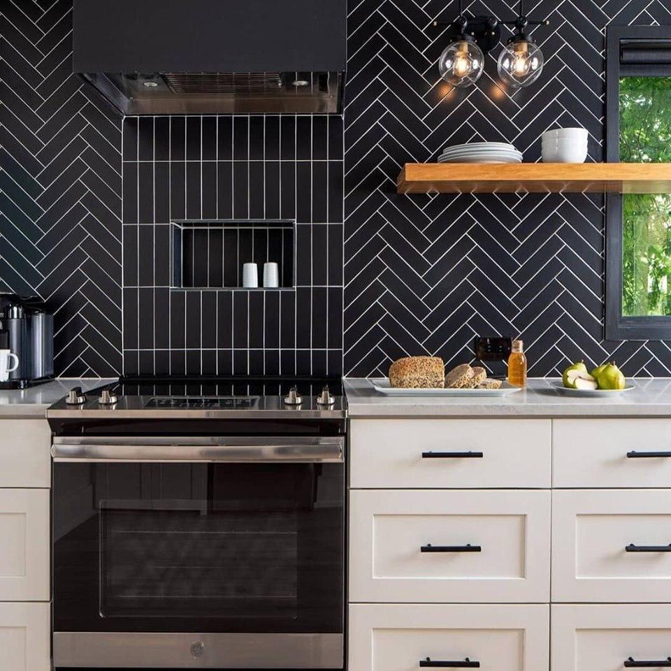 Sleek Modern Creative Backsplash Kitchen Design Kitchen Countertops