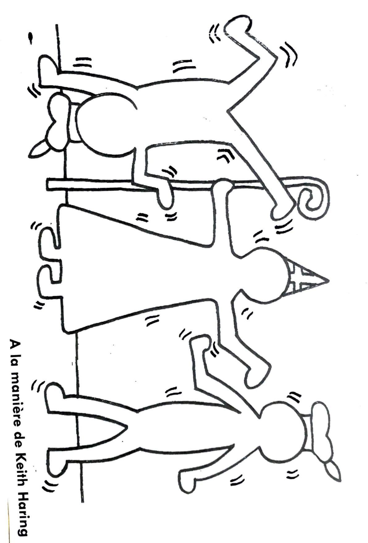 Saint Nicolas A La Maniere De Keith Haring Alamanierede Saintnicolas Sinterklaas Maternelle Knutsel Idee Sinterklaas Sinterklaas Knutselen Sinterklaas