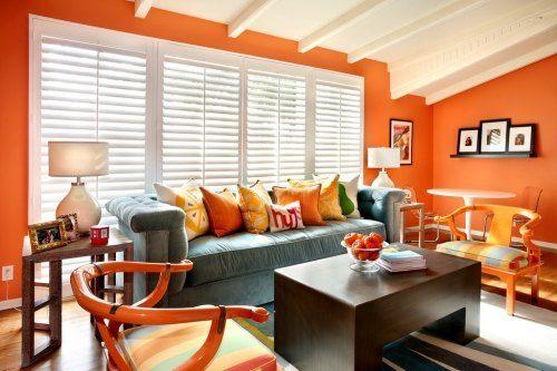 Decoracion de sala y comedor en naranja y marrón   buscar con ...