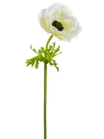 Anemone silk flower in white 22in tall artificial flowers anemone silk flower in white 22in tall mightylinksfo