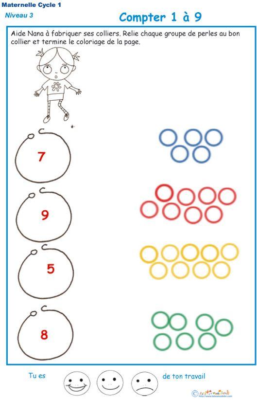 Très Imprimer l'exercice 2 pour compter les perles du collier GS | Les  SX15