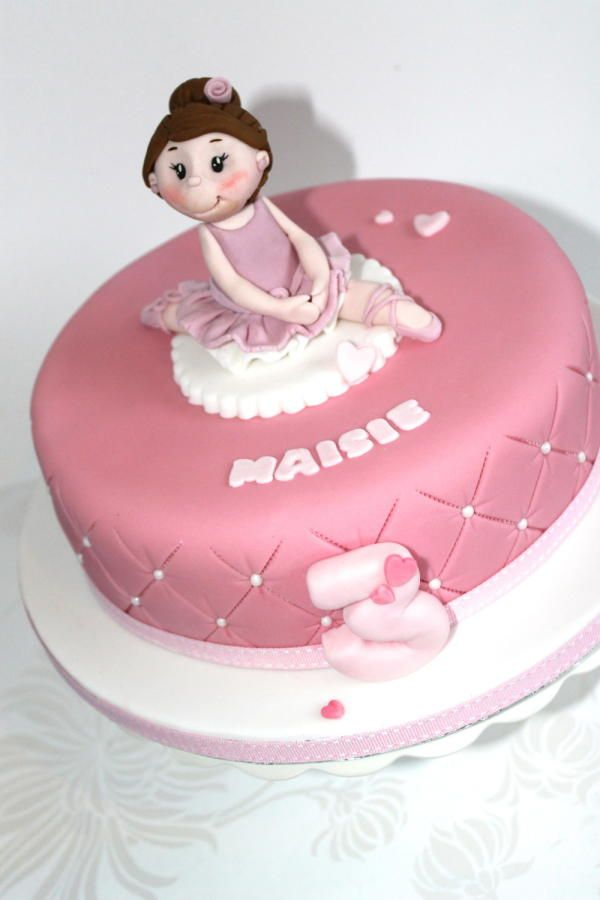 Ballerina Cake - for more of Zoe's cakes go to Zoe's Fancy Cakes fb page