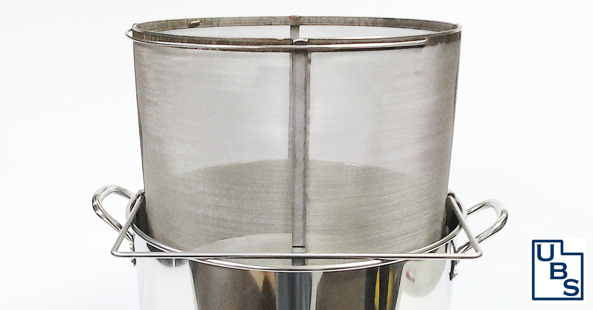 Stainless Steel Brew In A Basket With Draining Support Hooks For Brewing Grain And Mash For Beer Brewing Beer Brewing Beer Brewing
