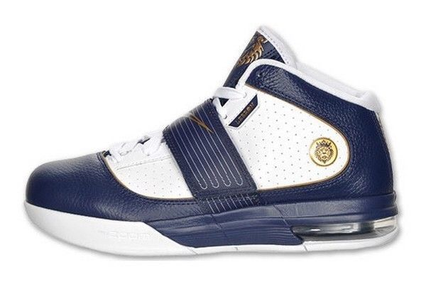 5fb3123bd9ea Rare Hard To Find Nike Zoom Soldier IV BLUE gold white Shoes Sz 15 ...