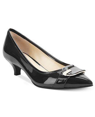 7ac9f32815 Anne Klein Shoes, Madalon Kitten Heel Pumps - Pumps - Shoes - Macy's ...
