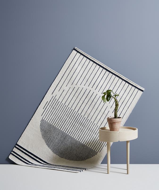 raining circle teppich von woud scandinavian design pinterest design dekoration und 90er. Black Bedroom Furniture Sets. Home Design Ideas