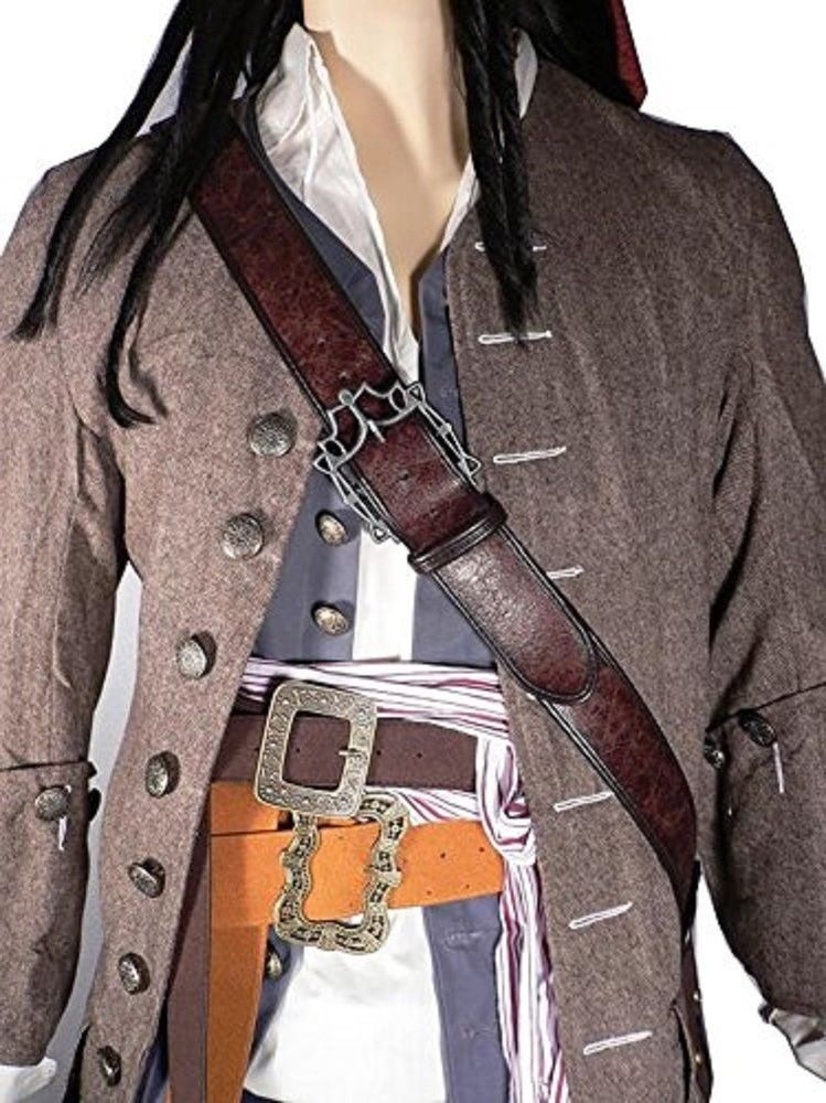 One Size Pirate Bandolier Belt Halloween Costume Accessory for Adults
