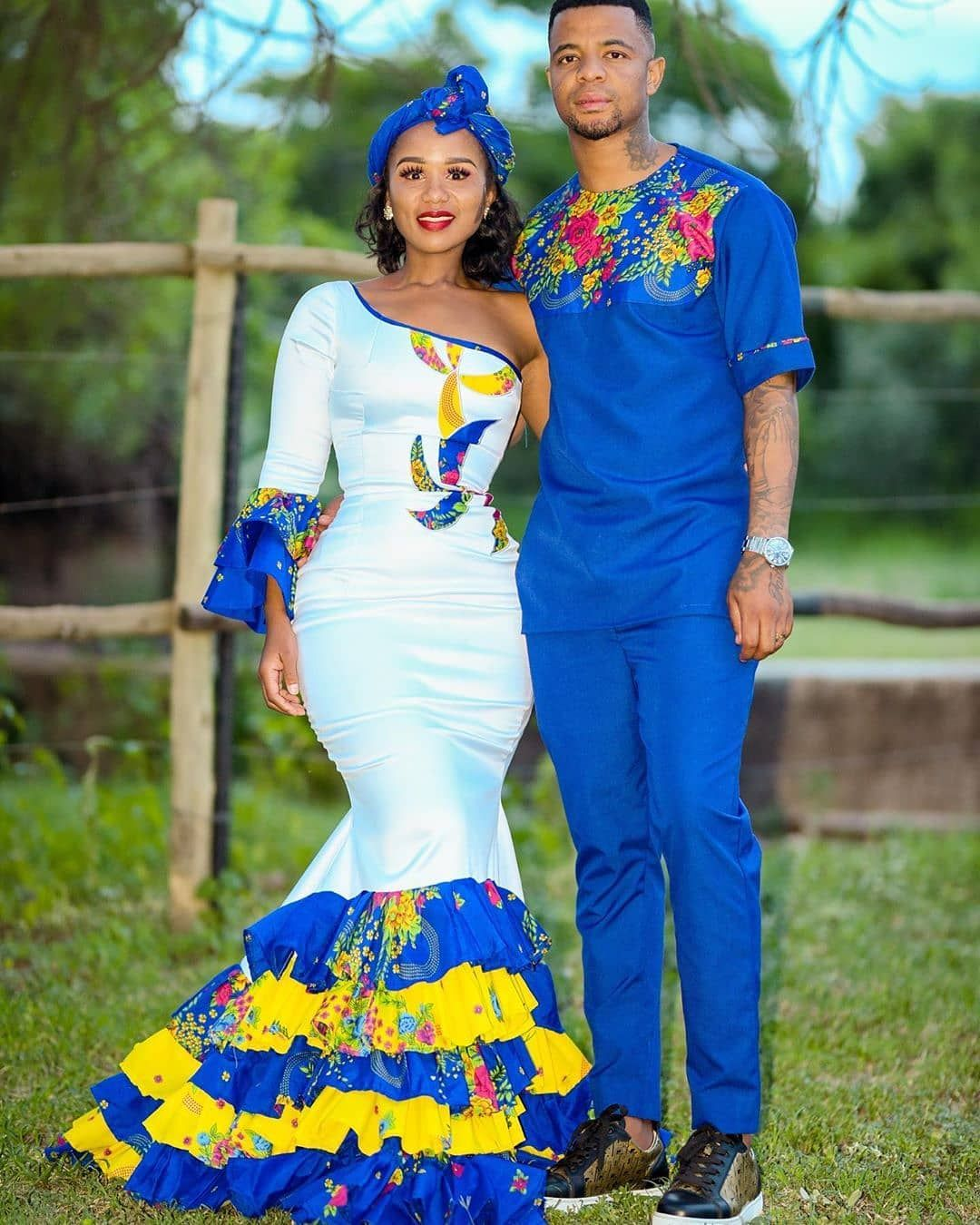 Shweshwe Traditional Dress Styles For Wedding African Traditional Wedding Dress African Traditional Dresses Traditional Dresses [ 1350 x 1080 Pixel ]