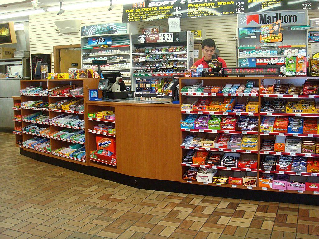 M&H Gas Cashier Counter Cashier counter design