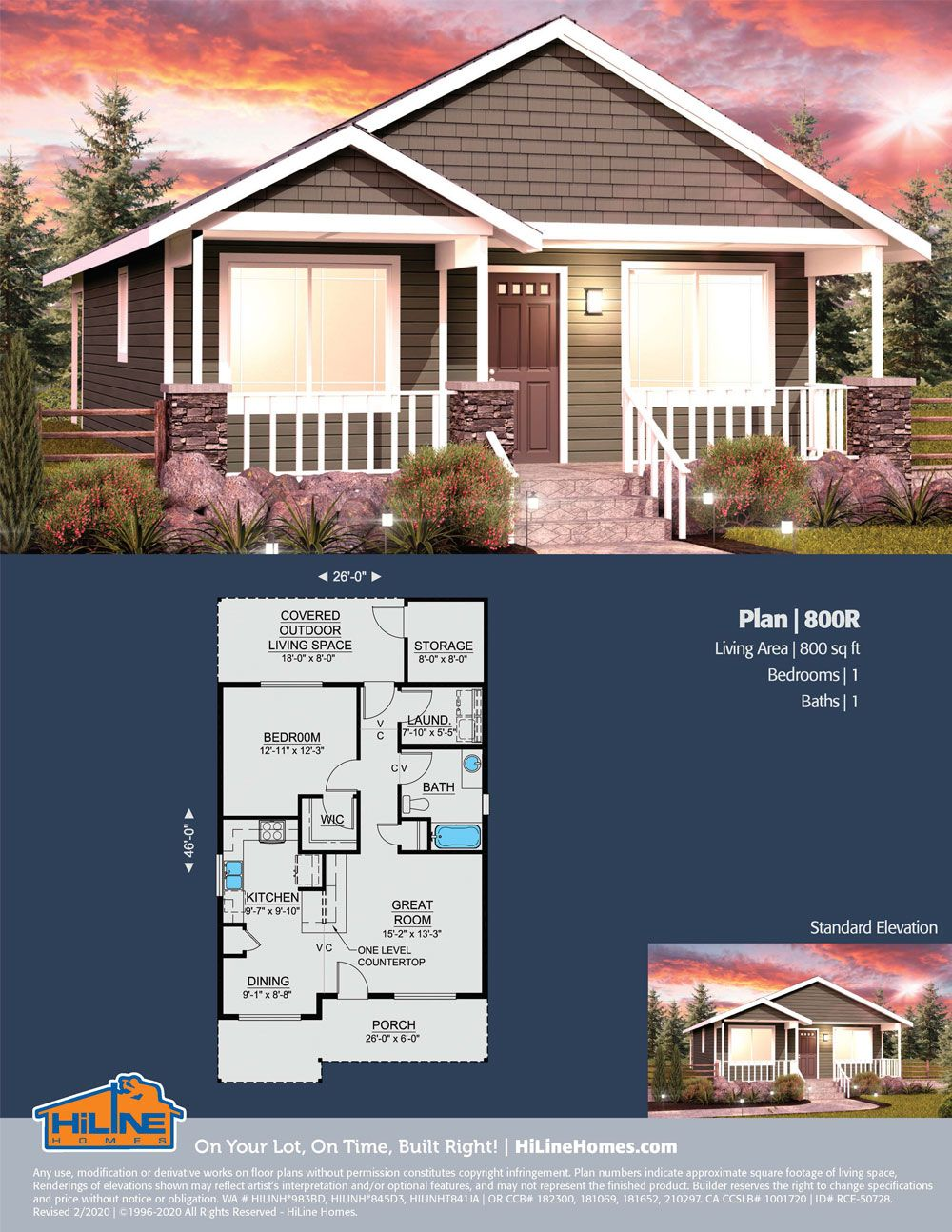 Hiline Homes Plan 800 In 2020 Floor Plans House Plans Great Rooms