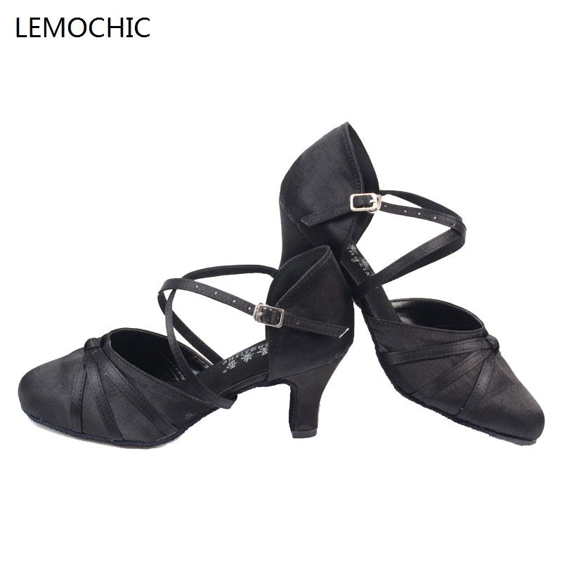 New Gray Samba Latin Tango Shoes Heeled Salsa Professional Dancing Shoes Sandals