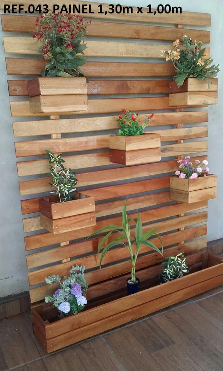 Deck de parede para plantas