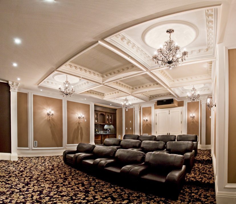 Home Entertainment Spaces: Glitzy Home Movie Theater, Could Stay At Home, Feel