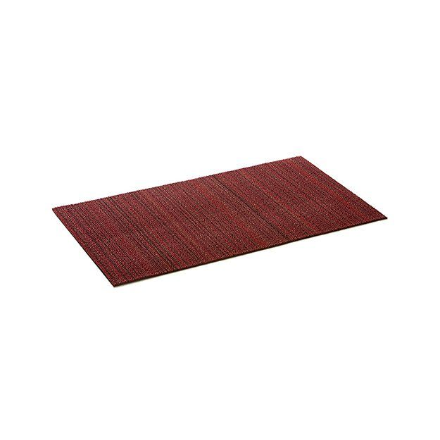 Chilewich Red Striped 20 X36 Doormat Door Mat Crate And Barrel Carpets Area Rugs