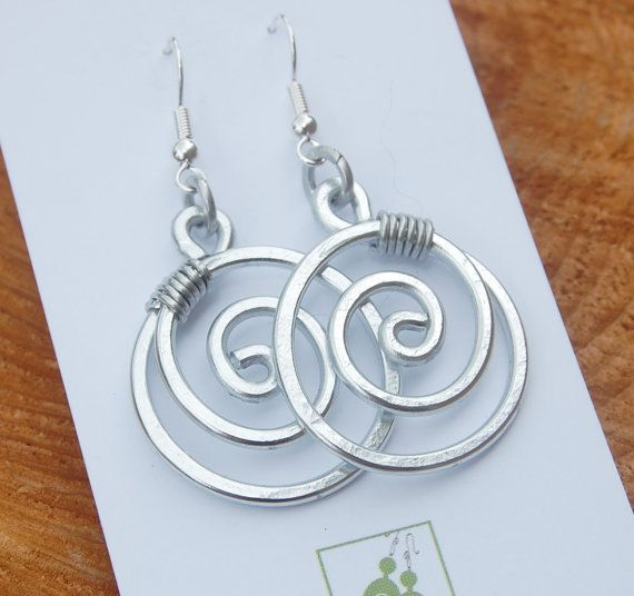 Large Circle Aluminum Earrings Wire Jewelry Jewelry ideas and Craft