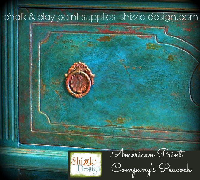 American Paint Company 39 S Peacock Shizzle Design Painted Furniture Chalk Paint Supplies Michigan