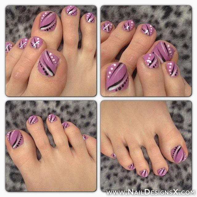 Cute Toe Nail Art Nail Designs Nail Art Nails Pinterest