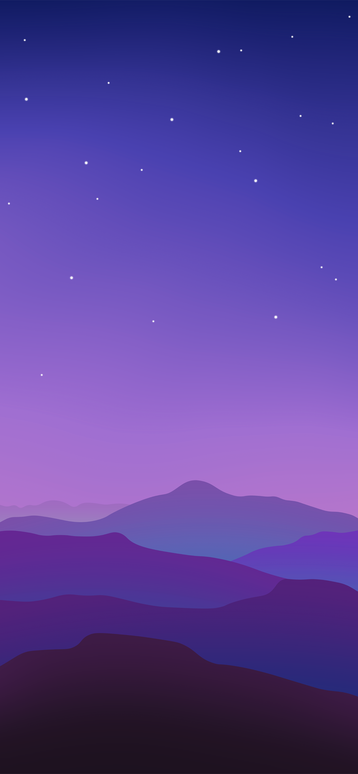 Colorful vector landscape wallpaper for iPhone in 2020